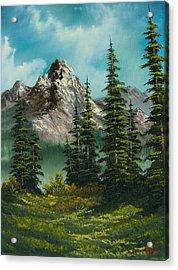 High Meadow Acrylic Print by C Steele