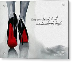 High Standards Acrylic Print by Rebecca Jenkins
