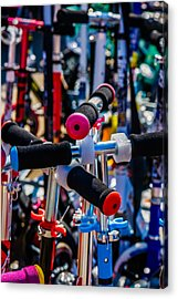 High Time To Buy A Scooter 2 Vertical Acrylic Print by Alexander Senin