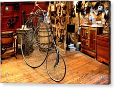 High Wheel 'penny-farthing' Bike Acrylic Print by Christine Till