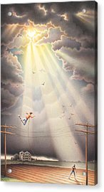 High Wire - Dream Series No. 4 Acrylic Print by Amy S Turner