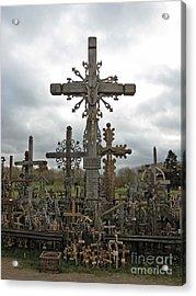 Hill Of Crosses 06. Lithuania.  Acrylic Print by Ausra Huntington nee Paulauskaite