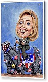 Hillary Clinton 2016 Acrylic Print by Mark Tavares