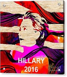 Hillary Clinton 2016 Acrylic Print by Marvin Blaine
