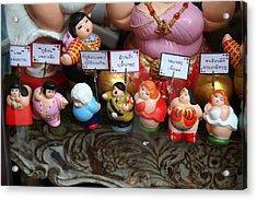 Hilter Doll - Piazza Palio - Khaoyai Thailand - 01131 Acrylic Print by DC Photographer