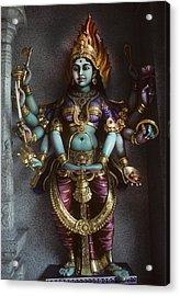 Hindu Goddess Bhairavi Acrylic Print by Carl Purcell