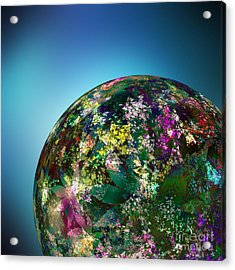 Hippies' Planet 2 Acrylic Print by Klara Acel