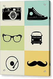 Hipster Mix Poster Acrylic Print by Naxart Studio