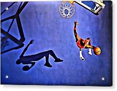 His Airness Michael Jordan Acrylic Print by Florian Rodarte