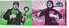 His And Hers Cultural Revolution Acrylic Print by Andy Prendy