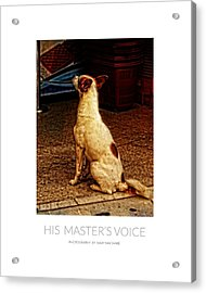 His Master's Voice - Poster Acrylic Print by Mary Machare