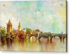 Historic Centre Of Prague  Acrylic Print by Catf