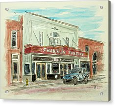 Historic Franklin Theatre Acrylic Print by Tim Ross
