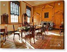 Historic Governor Council Chamber Acrylic Print by Olivier Le Queinec