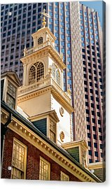 Historic Old State House Of Boston Acrylic Print by Thomas Schoeller