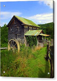 Historical Whites Mill Acrylic Print by Karen Wiles
