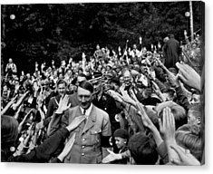 Hitler Being Greeted Acrylic Print by Underwood Archives