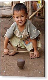 Hmong Boy Acrylic Print by Adam Romanowicz