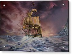H.m.s Victory Acrylic Print by Jean Walker