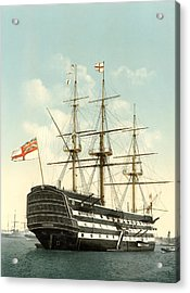 Hms Victory, Portsmouth, 1890s Acrylic Print by Science Photo Library