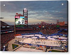 Hockey At The Ballpark Acrylic Print by David Rucker