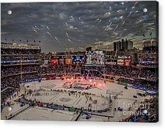 Hockey At Yankee Stadium Acrylic Print by David Rucker