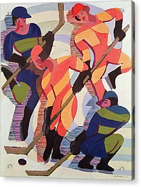 Hockey Players Acrylic Print by Ernst Ludwig Kirchner