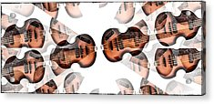 Hofner Bass Abstract Acrylic Print by Bill Cannon