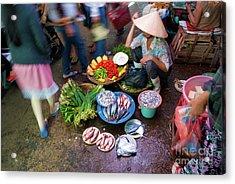 Hoi An Market Acrylic Print by Stuart Row