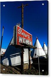 Holbrook Az - Wigwam Motel 015 Acrylic Print by Lance Vaughn