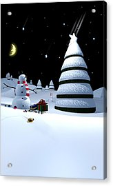 Holiday Falling Star Acrylic Print by Cynthia Decker