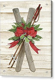 Holiday Sports Iv On Wood Acrylic Print by Kathleen Parr Mckenna