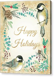 Holiday Wishes II Acrylic Print by Elyse Deneige