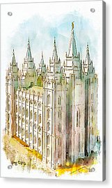 Holiness To The Lord Acrylic Print by Greg Collins