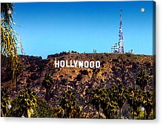 Hollywood Sign Acrylic Print by Az Jackson