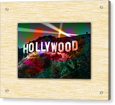 Hollywood Sign Acrylic Print by Marvin Blaine