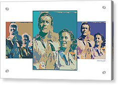 Hollywood Squares Acrylic Print by Marcy Gold