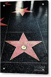 Hollywood Walk Of Fame Michael Jackson 5d28973 Acrylic Print by Wingsdomain Art and Photography