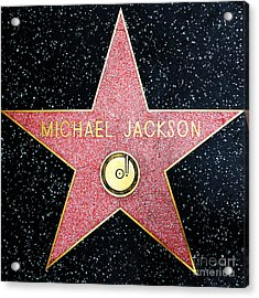 Hollywood Walk Of Fame Michael Jackson 5d28974 Acrylic Print by Wingsdomain Art and Photography
