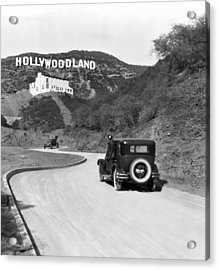 Hollywoodland Acrylic Print by Underwood Archives