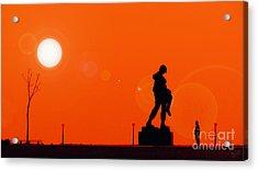 Holocaust Memorial - Sunset Acrylic Print by Nishanth Gopinathan
