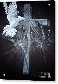 Holy Hands Acrylic Print by Laneea Tolley