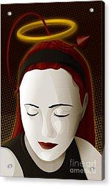 Holy Mary Acrylic Print by Sandra Hoefer