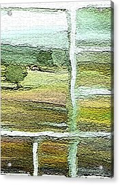 Home Alone As A  Patchwork Quilt Acrylic Print by Lenore Senior