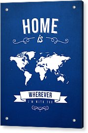 Home - Ice Blue Acrylic Print by Aged Pixel