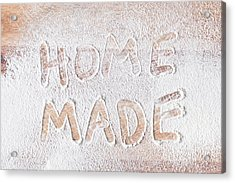 Home Made Acrylic Print by Tom Gowanlock