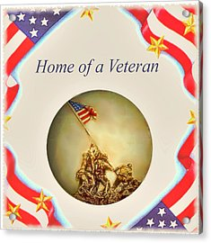 Home Of A Veteran Acrylic Print by Charles Ott