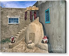 Home On Taos Pueblo Acrylic Print by Sandra Bronstein