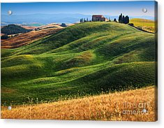 Home On The Hill Acrylic Print by Inge Johnsson