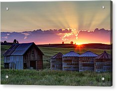 Home Town Sunset Acrylic Print by Mark Kiver